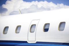 Business plane. The high-end luxury private aircraft royalty free stock photo