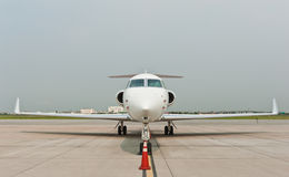 Business plane parked at airport Royalty Free Stock Photos