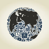 Business a planet Stock Image