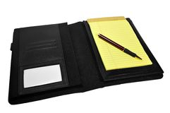 Business Planner. With notepad and pen Royalty Free Stock Photos
