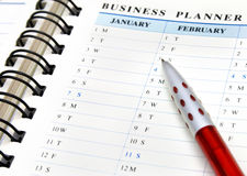 Business planner Stock Photos