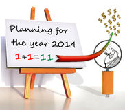 Business planning 2014. Money thing Stock Images