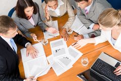 Business planning. Portrait of businesspeople planning project it meeting Royalty Free Stock Photo