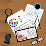 Business planning and accounting. Vector diagram statistic data illustration Stock Photos