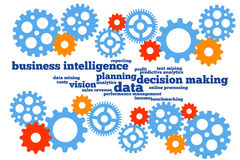 Business planning. Applying business intelligence and enhancing planning and decision making Royalty Free Stock Image