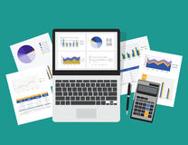 Business planning and business investment concept. Stock Photos