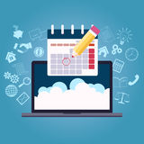 Business planning calendar Royalty Free Stock Images
