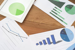 Business Planning Charts and Graphs Royalty Free Stock Photography