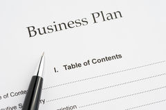 Business planning close-up Stock Photo