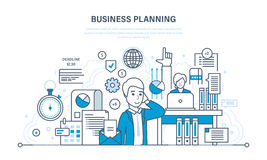 Business planning concept - organizing workflow, analysis and statistics, teamwork. Business planning concept. Organizing workflow, analysis and statistics Royalty Free Stock Images