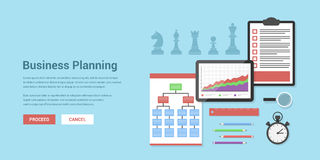 Business planning. Flat style concept banner of business planning and strategy concept Royalty Free Stock Photo