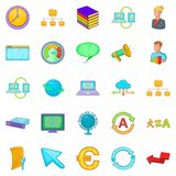 Business planning icons set, cartoon style. Business planning icons set. Cartoon set of 25 business planning vector icons for web isolated on white background Stock Photography