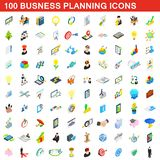 100 business planning icons set, isometric style. 100 business planning icons set in isometric 3d style for any design illustration royalty free illustration