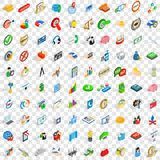 100 business planning icons set, isometric style Stock Photography