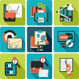 Business planning icons Stock Image