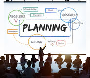 Business planning process diagram chart Concept Stock Image
