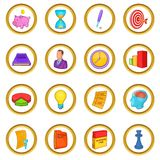 Business planning set, cartoon style Royalty Free Stock Images