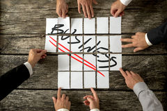 Business planning and strategy concept Royalty Free Stock Photography