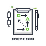 Business planning table vector illustration