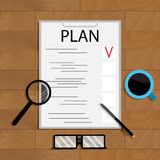 Business planning vector. Creative analysis and organization illustration Royalty Free Stock Image
