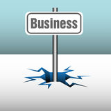 Business plate on ice Stock Photography