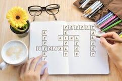 Business play crossword. Stock Photos