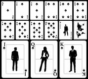 Business Playing Cards - Spades Stock Photo
