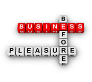 Business before pleasure Stock Image