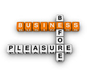 Business before pleasure Stock Photo