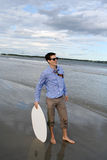 Business or Pleasure Skim Boarding 3 Stock Photos