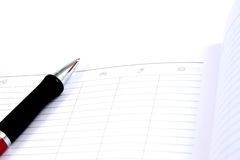 Business pocket planner and pen Royalty Free Stock Photos