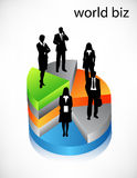 Business poeple. Vector illustration of business people on graph Stock Image