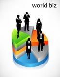 Business poeple. Vector illustration of business people on graph vector illustration