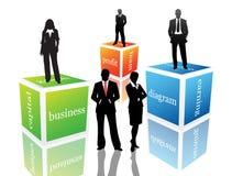 Business poeple. Vector illustration of business people stock illustration