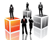 Business poeple. Vector illustration of business people Royalty Free Stock Photos