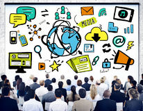 Business Poeple Global Media Technology Seminar Concept Royalty Free Stock Photo