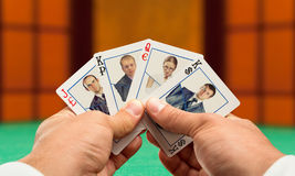 Business poker Royalty Free Stock Images