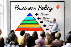 Business Policy Action Pyramid Concept Stock Photos