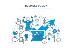 Business policy aimed at increasing sales, growth and business development. Royalty Free Stock Photo