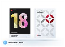 Business polygonal set of design brochure, abstract annual report, horizontal cover flyer in A4. Business set of design brochure, abstract annual report stock illustration