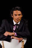 Business portrait. Young indonesian man in a business suit stock images
