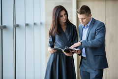 Business portrait of business couple Stock Photo