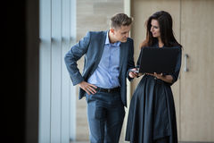 Business portrait of business couple Stock Photography