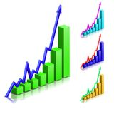 Business positive arrow vector graph Royalty Free Stock Image