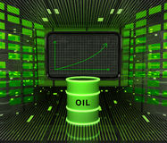 Business positive graph forecast or results in fuel industry. Illustration Royalty Free Stock Image