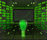 Business positive graph forecast or results in green technologies. Illustration Stock Photos
