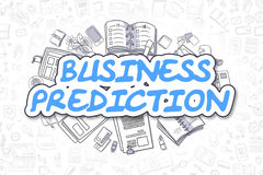 Business Prediction - Cartoon Blue Word. Business Concept. Stock Photography