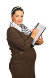Business pregnant woman Stock Photo