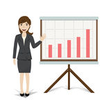 Business present growing business vector illustration Stock Photography