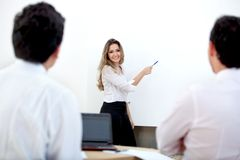 Business presentation Stock Image